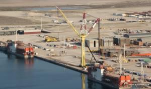 port kuryik На Каспии началось строительство паромного комплекса в порту Курык.